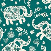 Elephants_floral-teal_papercut_shop_thumb