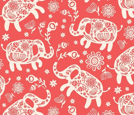 Relephants_floral-red_papercut_shop_preview
