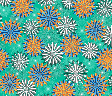 Papery Blossoms fabric by jjtrends on Spoonflower - custom fabric