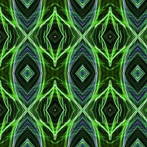 EYE DAMASK OGEE OGIVE COLORFUL JEWELS mint green