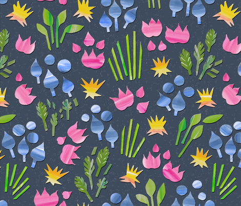 Paper_Flowers_1 fabric by samantha_w on Spoonflower - custom fabric