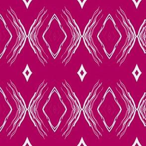 STYLIZED BUTTERFLIES DIAMONDS raspberry pink fuchsia