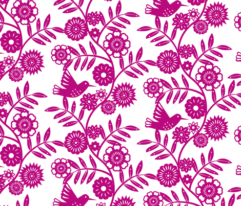 Flores Magenta fabric by lellobird on Spoonflower - custom fabric