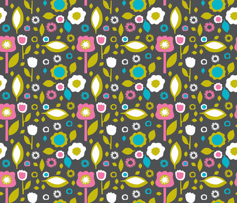 paper-cut-spring fabric by siribean on Spoonflower - custom fabric