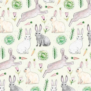 An Abundance of Bunnies - Cream