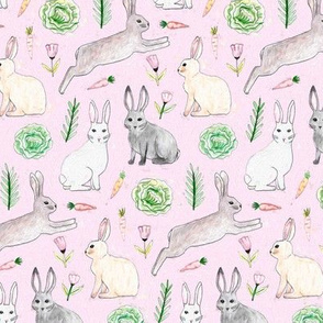 An Abundance of Bunnies - Pink