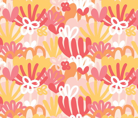 Marguerite floral fabric by becski_design on Spoonflower - custom fabric