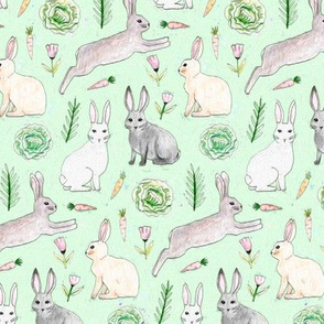 An Abundance of Bunnies - Green