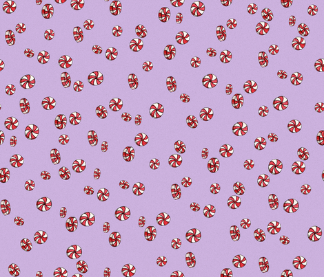 Peppermint Candy in Purple fabric by joanandrose on Spoonflower - custom fabric