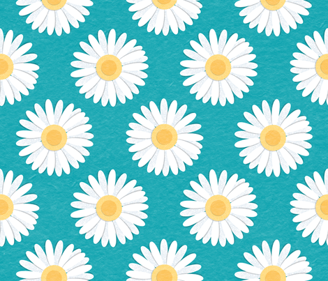 Spring Daisies_Paper Cut fabric by mia_valdez on Spoonflower - custom fabric
