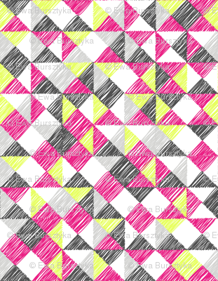 scribble triangles - pink