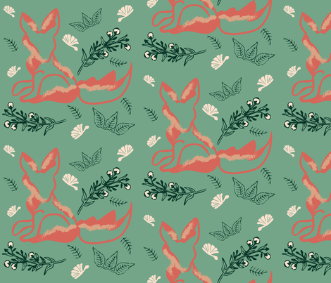 Forest Fox fabric by sixsie_lou on Spoonflower - custom fabric
