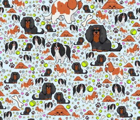 Cavalier King Charles fabric by nemki on Spoonflower - custom fabric