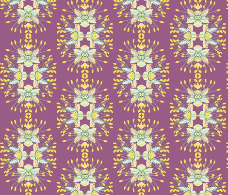 2941 Phebalium Central Motif Purple fabric by jennieholtsbaumdesign on Spoonflower - custom fabric