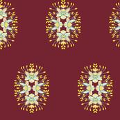 2941 Phebalium Central Motif Cherry