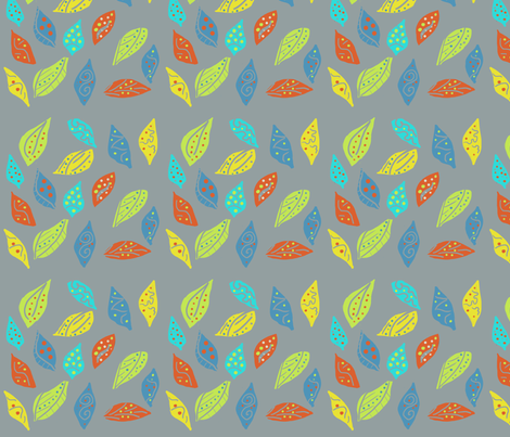 VALSE DES FEUILLES fabric by pylabest on Spoonflower - custom fabric