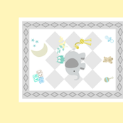 BABY BOY Mint 2118 - diamond gray soft yellow
