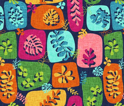 Paper-cut Florals  fabric by susannekasielke on Spoonflower - custom fabric