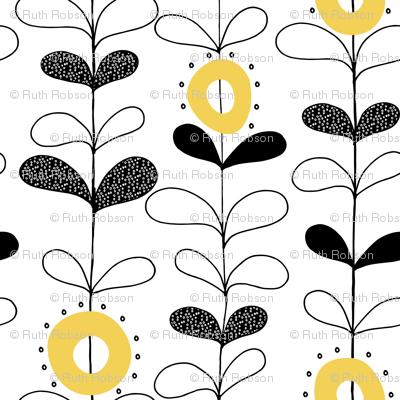 Rows of seedling flowers