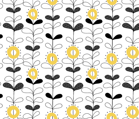 Rows of seedling flowers   fabric by ruth_robson on Spoonflower - custom fabric