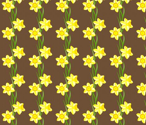 Just daffodils fabric by fulgorine on Spoonflower - custom fabric