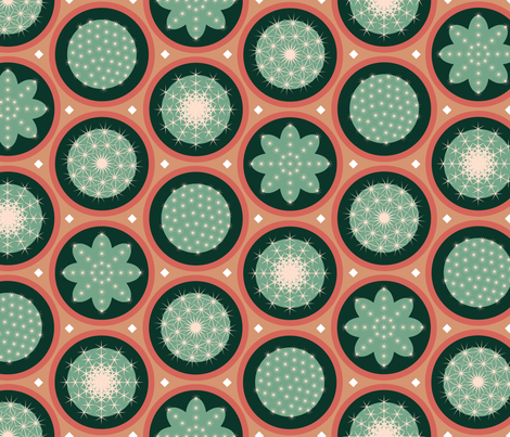 Cacti fabric by melhales on Spoonflower - custom fabric
