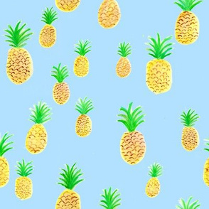 Pineapple on Blue