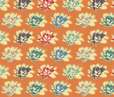Orange Lillies fabric by ghostfire on Spoonflower - custom fabric