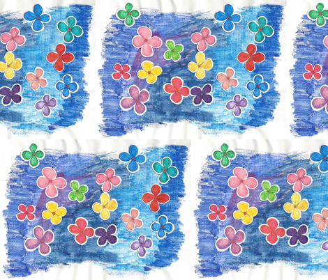 Paper-Cut Florals fabric by kate's_kwilt_studio on Spoonflower - custom fabric