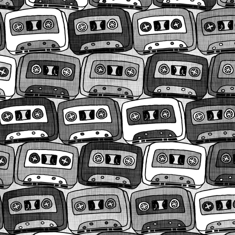 Silver Cassettes Color Request fabric by pond_ripple on Spoonflower - custom fabric