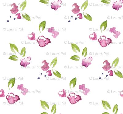 Plum Watercolor Wildflower 3