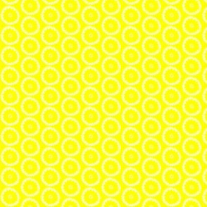 Yellow wibbly circles