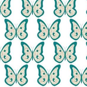 Teal Pearl Butterflies
