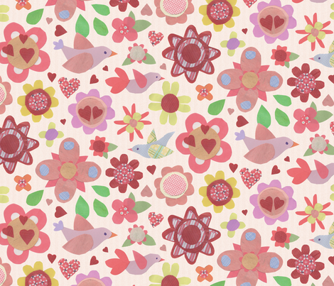 fleurspapier-200 fabric by lisahilda on Spoonflower - custom fabric
