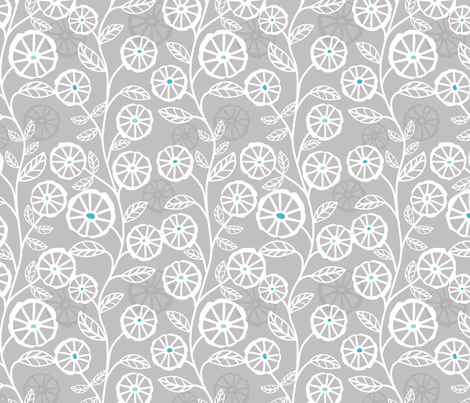 Papercut blooms fabric by ebygomm on Spoonflower - custom fabric