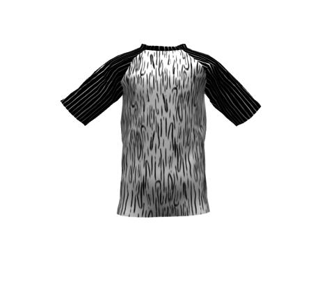 Ink Brush Stroke Wood Grain