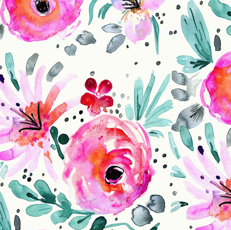 Colby_Floral fabric by crystal_walen on Spoonflower - custom fabric