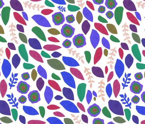 leaves or petals? fabric by undiine on Spoonflower - custom fabric