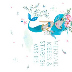 "54""x36"" Blue Mermaid / Minky Size"