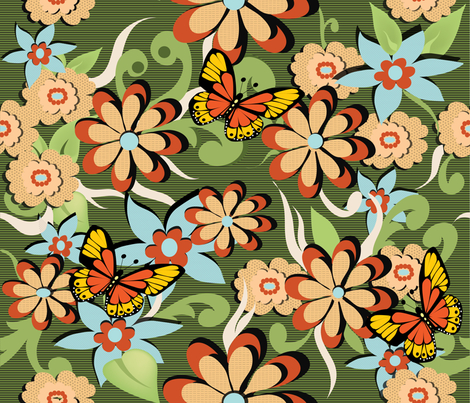floral_beauty fabric by vedanta on Spoonflower - custom fabric