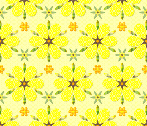 Chiyogami flower collage fabric by fulgorine on Spoonflower - custom fabric