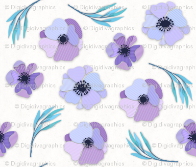 Pinstripe Paper Flowers