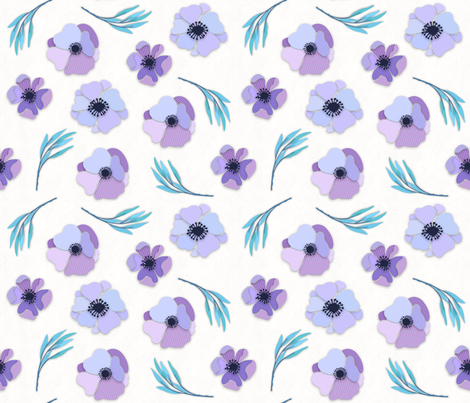Pinstripe Paper Flowers fabric by digidivagraphics on Spoonflower - custom fabric