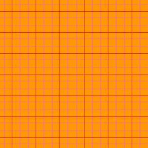 It's Been Gnome 2 Happen! Orange Pink Plaid  plaid