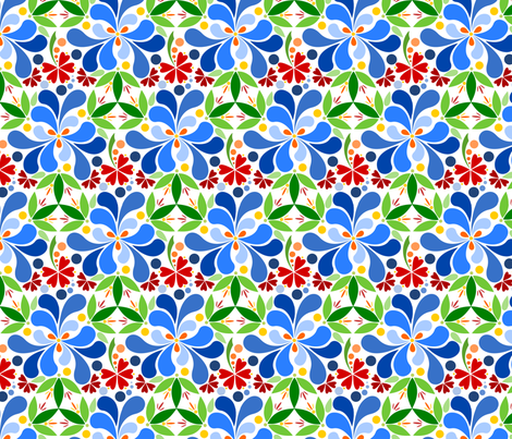 Flower Cutout fabric by catashtrophe on Spoonflower - custom fabric