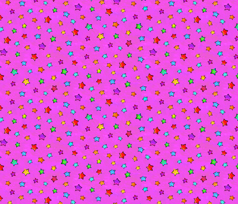 Watercolor Stars Pink fabric by ileneavery on Spoonflower - custom fabric
