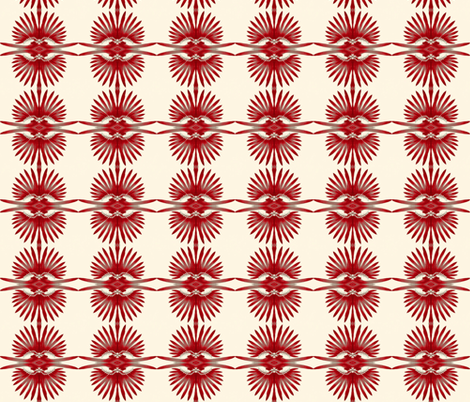 Red and grey feathers fabric by twigsandblossoms on Spoonflower - custom fabric