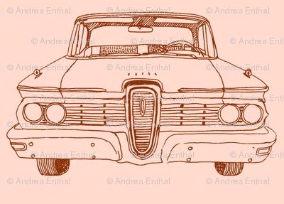 1959 Edsel Ranger or Corsair brown on peach