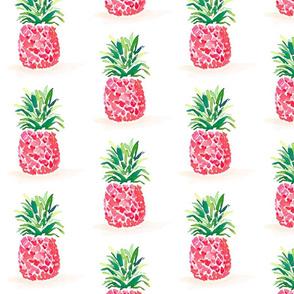 Watercolor Pink Pineapple