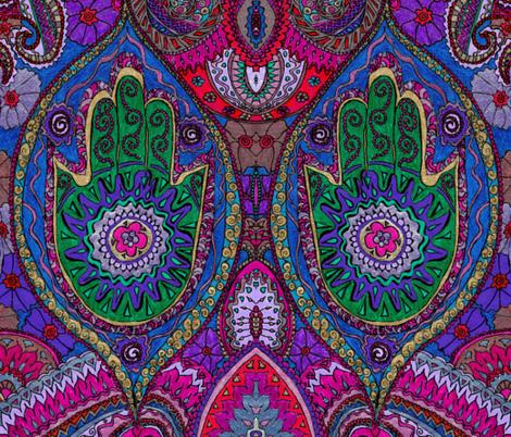 hamsa_doodle_detail_NEW fabric by vivaaviva on Spoonflower - custom fabric